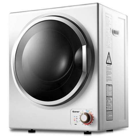 Costway Electric Tumble Compact Cloth Dryer Stainless Steel Wall Mounted 1.5 cu .ft.
