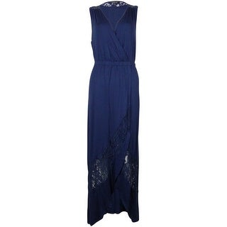 Spense Women's Lace Faux Wrap Hi-Low Dress
