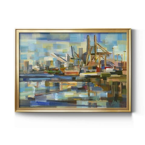 Port of Seattle- Premium Gallery Wrapped Canvas - Ready to Hang