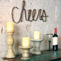 """Scrap Iron """"Cheers"""" Wall Sign - 30"""" x 11"""""""
