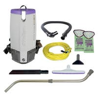 ProTeam 107303 10 Quart Super Coach Pro Backpack Vacuum with Xover Multi-Surface Telescoping Wand Tool Kit
