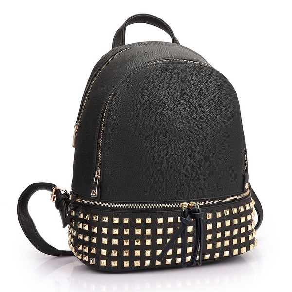 Dasein Women Buffalo Leather Backpack with Studs. Opens flyout.