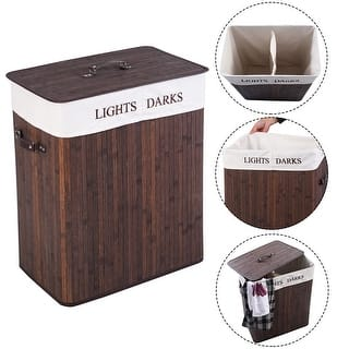 Costway Double Rectangle Bamboo Hamper Laundry Basket Cloth Storage Bag Lid Brown|https://ak1.ostkcdn.com/images/products/is/images/direct/51ad365832f4a7da9bfab579e4135cbc92c4a3e9/Costway-Double-Rectangle-Bamboo-Hamper-Laundry-Basket-Cloth-Storage-Bag-Lid-Brown.jpg?impolicy=medium