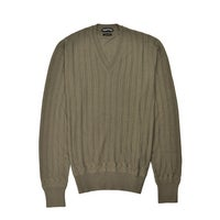 411a64a2 Shop Tom Ford Mens Ivory Cashmere Silk Henley Ribbed Button Sweater ...