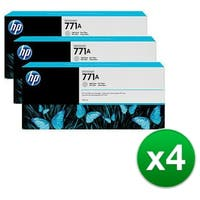 HP 771A 3-Cartridges 775-ml Light Gray DesignJet Ink Cartridges (B6Y46A) (4-Pack)