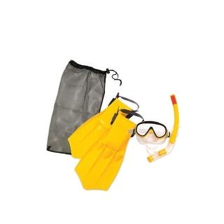 Yellow Caribbean Junior Water or Swimming Pool Scuba or Snorkeling Set - Medium