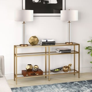 Link to Silver Orchid Galeen Blackened Bronze Console Table Similar Items in Living Room Furniture