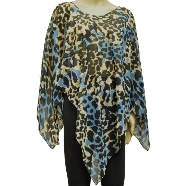 Beautiful Chiffon Ponchos Wrap Scarf Brown Blue Beige Black Leopard