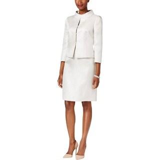 Tahari ASL Womens Petites Skirt Suit Shimmer Jacquard - 10P