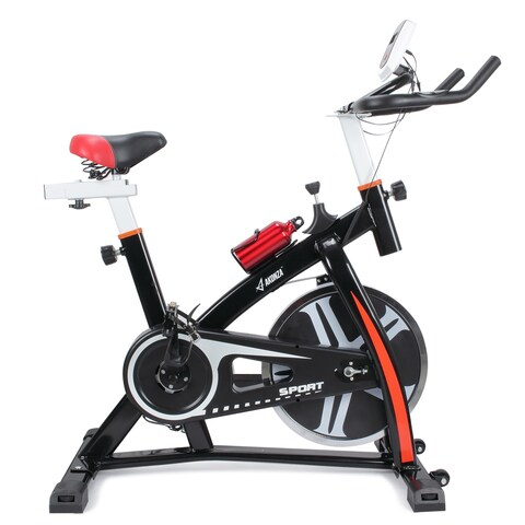 Akonza Fitness Stationary Indoor Cycle Trainer Bicycle Exercise Cycling Health Workout (Black)