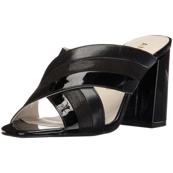 Anne Klein Womens Wileta Open Toe Casual Mule Sandals
