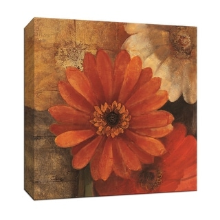 """PTM Images 9-152513  PTM Canvas Collection 12"""" x 12"""" - """"Bold Gerberas II"""" Giclee Flowers Art Print on Canvas"""