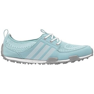 Adidas Women's Climacool Ballerina II Clear Aqua/White/Silver Golf Shoes Q44539