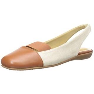 Trotters Womens Sarina Toe Cap Slingback Ballet Flats