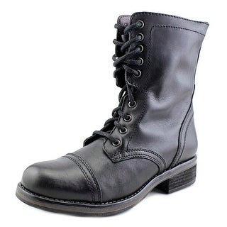 Steve Madden Tropa 2-0 Round Toe Leather Boot