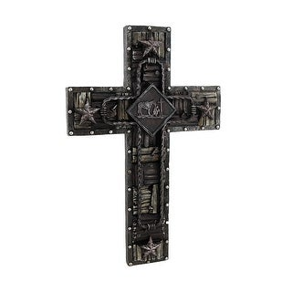 Old West Barbed Wire Wall Cross 15 Inch