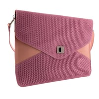 HS1154 RA FULVIA Pink Leather Clutch/Shoulder Bag - 15-10-1