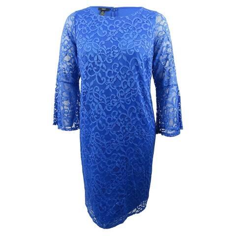 Alfani Women's Plus Size Lace Bell-Sleeve Sheath Dress