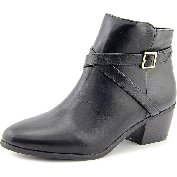 Karen Scott Flynne Women Round Toe Synthetic Black Bootie