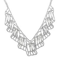 Beaded Bib Necklace in Sterling Silver