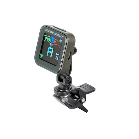 Monoprice Chromatic Clip-on Guitar Tuner - Rechargeable, Bright LCD Display, B0 to B7 Tuning Rang - Stage Right Series