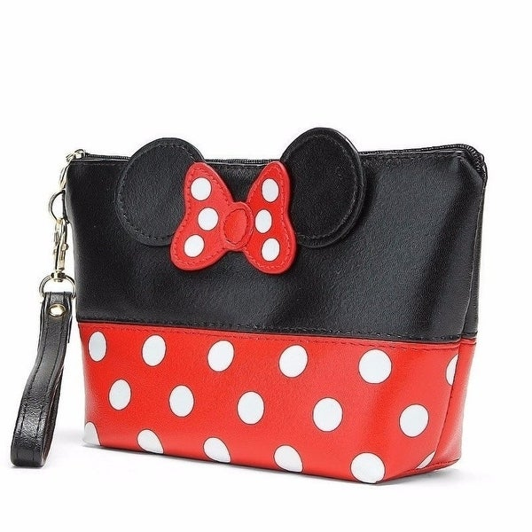 d23ed1816af Shop explosions female bag Mickey bow round PU cosmetic bag clutch ...
