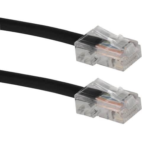 Qvs cc715n-250bk 250ft cat6 gigabit solid black