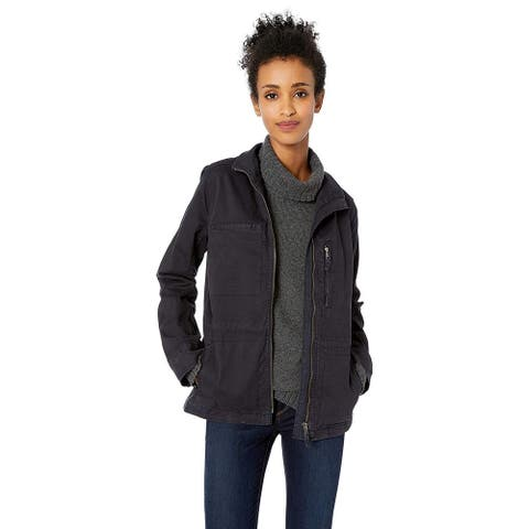 Daily Ritual Women's Military Cargo Jacket, Navy, 14