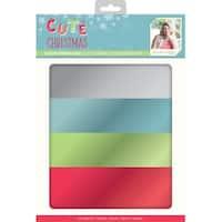Sara Davies Signature Luxury Cardstock A4 28/Pkg-Cute Christmas-Mirror, 7 Of Each Color
