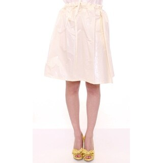 Licia Florio White Above-Knee Stretch Waist Strap Skirt - one-size