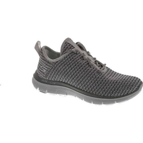 Skechers Sport Women's Flex Appeal 2.0 Bold Move Fashion Sneaker - White Grey
