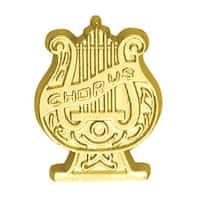 Simba CL083 1 in. Chenille Chorus Lapel Pin, Bright Gold