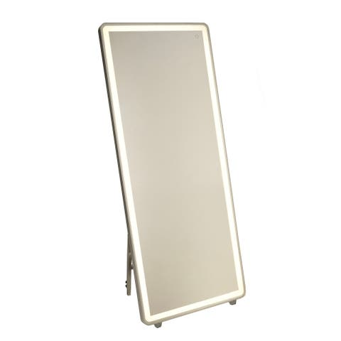 "Artcraft Lighting AM311 Reflections 67"" X 27-1/2"" Rectangular Flat Aluminum Frameless Floor Mirror with LED Lighting"