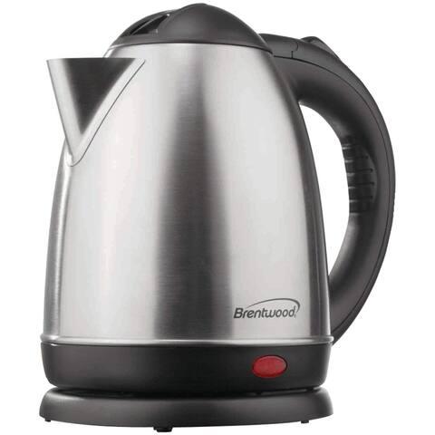 BRENTWOOD BTWKT1780M 1.5-liter Stainless Steel Electric Cordless Tea Kettle