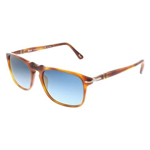 Persol PO 3059S 96/S3 54mm Unisex Terra Di Siena Frame Blue Gradient Polarized Lens Sunglasses