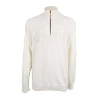 Calvin Klein Men's Half-Zip Multi-Texture Turtleneck Sweater