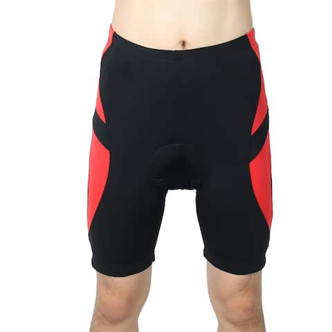 REALTOO Authorized Bicycle Underwear Cycling Shorts Pants Black Red S (W 28)