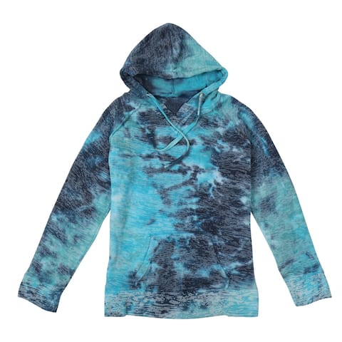 MV Sport/S&S Activewear Women's Burnout Hoodie - Batik Print Hooded Sweatshirt
