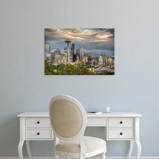 Easy Art Prints Larry J. Taite's 'Seattle' Premium Canvas Art