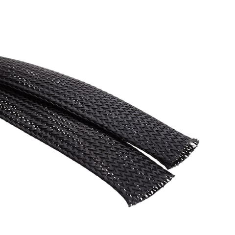 Offex 1 Inch Diameter Woven Polyester Expandable Wire Sleeving - 15 Feet