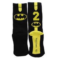 DC Comics Batman #2 Boy Athletic Crew Socks - Black