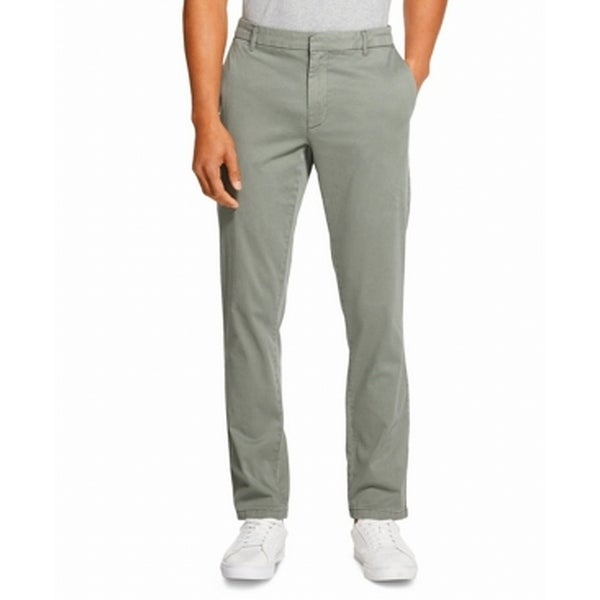 DKNY Mens Pants Green Size 38x30 Slim Fit Straight Leg Chino Stretch. Opens flyout.