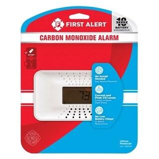 First Alert 1039753 Battery Electrochemical Carbon Monoxide Alarm, White