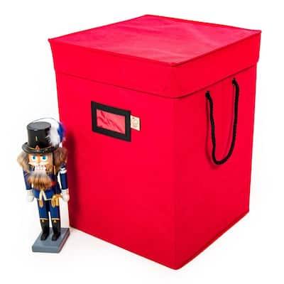 Santa's Bags 17 in. Nutcracker Collectibles Storage Box - RED
