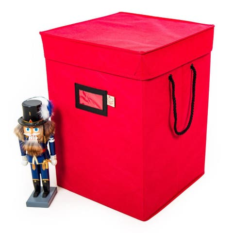 Santa's Bags 17 in. Nutcracker Collectibles Storage Box - RED