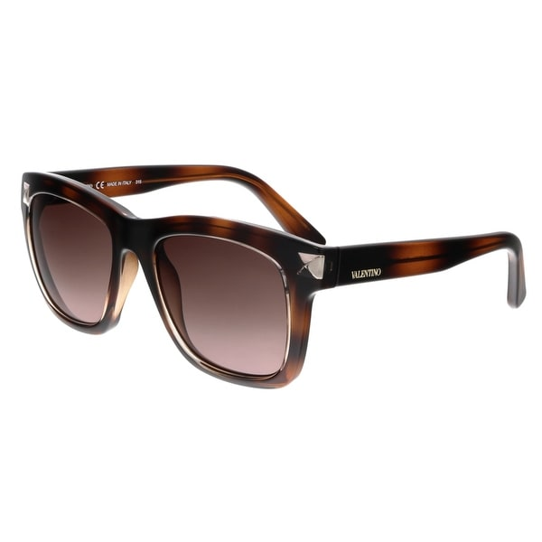 Valentino V725S 214 Havana Square Sunglasses - 52-18-140