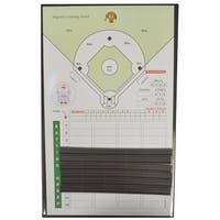 The Coacher Hybrid Baseball and Softball Line-Up Magnetic Coaching Board