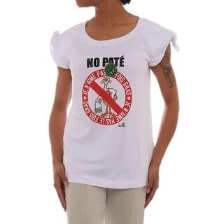 Love Moschino Cap Sleeve Scoop Neck T-Shirt Women Regular T-Shirt