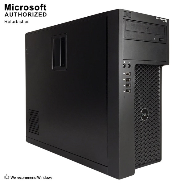 Dell Precision T1700 TW Intel i7-4770 3.4G, 16G, 360G SSD + 2T HDD, Radeon 4650, DVD, WIFI, BT 4.0, W10P64(EN/ES)-Refurbished