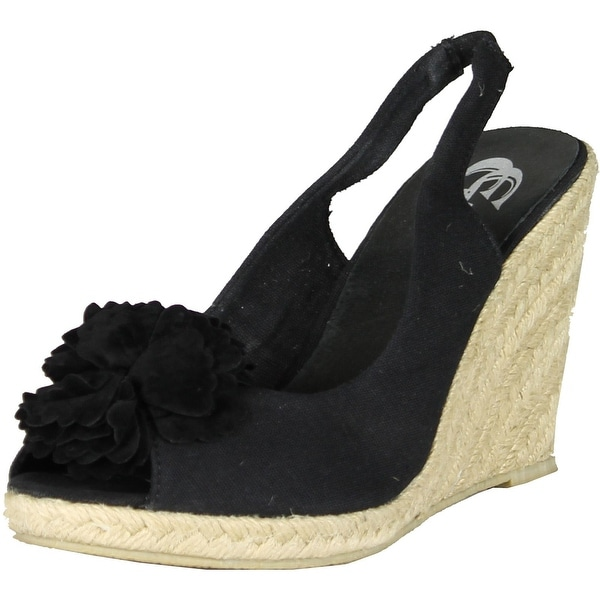 Gcny Good Choice Womens Nina Fashion Wedge Sandals - black.